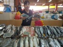 1st May Seremban, Malaysia Huvudsaklig marknad som är bekant som Pasar Besar Seramban under helgen arkivfoton
