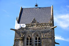 St. Mere Eglise, Normandy, France Royalty Free Stock Photos