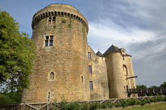 ST MESMIN, FRANCE - JULY 9, 2017: External view of St Mesmin Castle in Saint Andre sur Sevres, Deux Sevres Royalty Free Stock Photos
