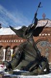 st micahel posąg Zdjęcia Stock