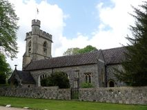 St Michael's Parochiekerk, Chenies, Buckinghamshire, Engeland, het UK stock afbeelding