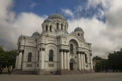 St Michael ärkeängelns kyrka, Kaunas royaltyfria bilder