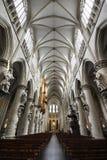 st michael собора brussels нутряной Стоковая Фотография RF