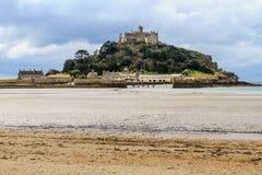 St Michael ´s monterar i Cornwall, UK Fotografering för Bildbyråer