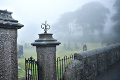 St Michael of all Angels gate and graveyard, Princetown, Dartmoor, devon, England Royalty Free Stock Photography