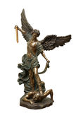 St Michael the archangel. Bronze statue royalty free stock images