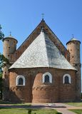 St Michael Archangel`s Fortress Church in Synkovitchi Stock Image