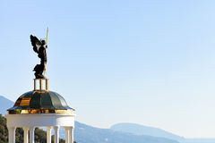 St. Michael the Archangel statue on belvedere Stock Image