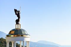 St. Michael the Archangel statue on kiosk, Crimea Stock Images