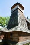 St Michael Archangel Wooden Church - Binarowa - Pologne photo stock