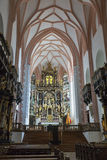 St. Michael Basilica interior at Mondsee, Austria. Royalty Free Stock Photo