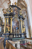 St. Michael Basilica interior at Mondsee, Austria. Stock Photography