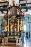 St. Michael Basilica interior at Mondsee, Austria. Royalty Free Stock Image