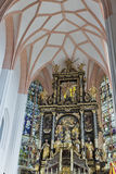 St. Michael Basilica interior at Mondsee, Austria. Royalty Free Stock Photos