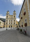 St. Michael Basilica at Mondsee, Austria. Stock Photo