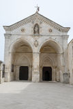 St Michael basilica at Monte Sant'Angelo on Puglia Royalty Free Stock Photography