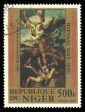 St Michael bate o dragão Fotografia de Stock