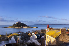 St Michael Berg Cornwall England Stockfoto