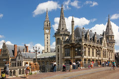 St Michael Bridge gent belgië stock fotografie