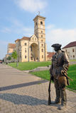 St Michael Cathedral i den Alba Iulia fästningen Arkivbild