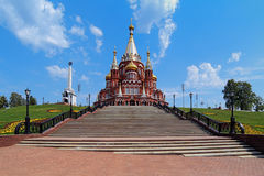 St. Michael cathedral in Izhevsk, Russia Stock Images