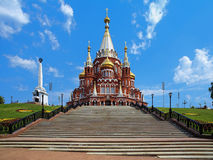 St. Michael cathedral in Izhevsk, Russia Stock Photos