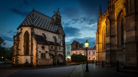 St. Michael chapel  in Kosice, Slovakia stock photography