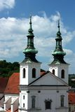 St. Michael Church detail in Brno. Czech Republic stock photography