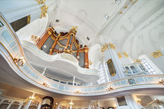 St. Michael Church in Hamburg, interior Stock Images