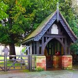 St Michael Church Lych Gate, Rocester stock photos