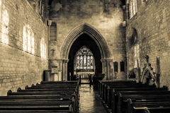 St Michael Church Nave Royaltyfri Foto
