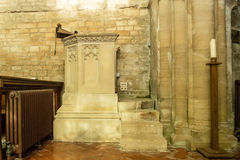 St Michael Church Pulpit fotografia stock libera da diritti