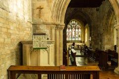 St Michael Church Pulpit e coro fotografia stock