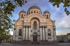St Michael die Erzengel ` s Kirche oder Garrison Church in Kaunas, Litauen Stockbild
