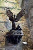 St Michael en de Duivel royalty-vrije stock afbeelding