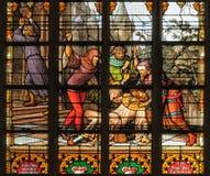 St. Michael en St. Gudula kathedraal stock fotografie