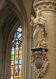 St. Michael en St. Gudula kathedraal Royalty-vrije Stock Fotografie