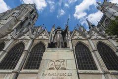 St Michael et St Gudula à Bruxelles, Belgique Images stock