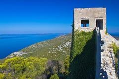 St Michael Fort sur l'île Ugljan Images stock