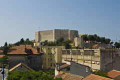 St.Michael fortress and the urban panorama Stock Photo
