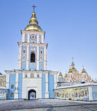 St Michael Gilded cathedral in Kiev Stock Photos