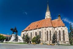 St Michael gotische Kirche und König Mathias lizenzfreies stockbild