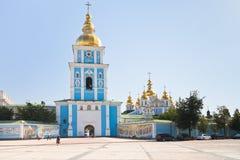 St. Michael gouden-Overkoepeld Klooster in Kiev stock fotografie