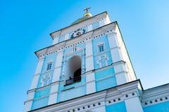 St Michael Gouden Overkoepeld Klooster, klassieke shinny, gouden koepels van de kathedraalkoepels van de kathedraal, de Oekraïne royalty-vrije stock fotografie