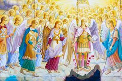 St Michael Gouden Overkoepeld Klooster, klassieke shinny, gouden koepels van de kathedraalkoepels van de kathedraal, de Oekraïne royalty-vrije stock afbeeldingen