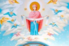 St Michael Gouden Overkoepeld Klooster, klassieke shinny, gouden koepels van de kathedraalkoepels van de kathedraal, de Oekraïne stock foto's