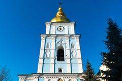 St Michael Gouden Overkoepeld Klooster, klassieke shinny, gouden koepels van de kathedraalkoepels van de kathedraal, de Oekra?ne stock foto's