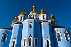 St Michael Gouden Overkoepeld Klooster, klassieke shinny, gouden koepels van de kathedraalkoepels van de kathedraal, de Oekra?ne stock fotografie