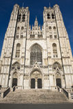 St. Michael and Gudula Cathedral.Brussels Stock Photography