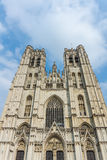 The St. Michael and Gudula Cathedral in Brussels Stock Photo